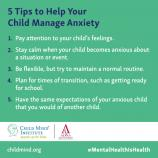 5 tips to hlep your child manage anxiety
